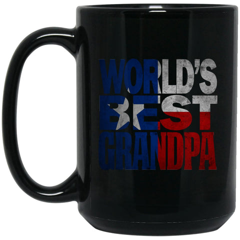 Cool Worlds Best Grandpa Mug and Texas T Mug Grandpa T Mug Texas Flag Mug Large Black Mug