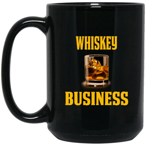 Funny Whiskey Lover Gift - Whiskey T Mug Large Black Mug