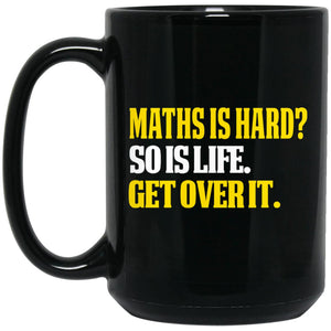 MAths Is Hard BM15OZ 15 oz. Black Mug