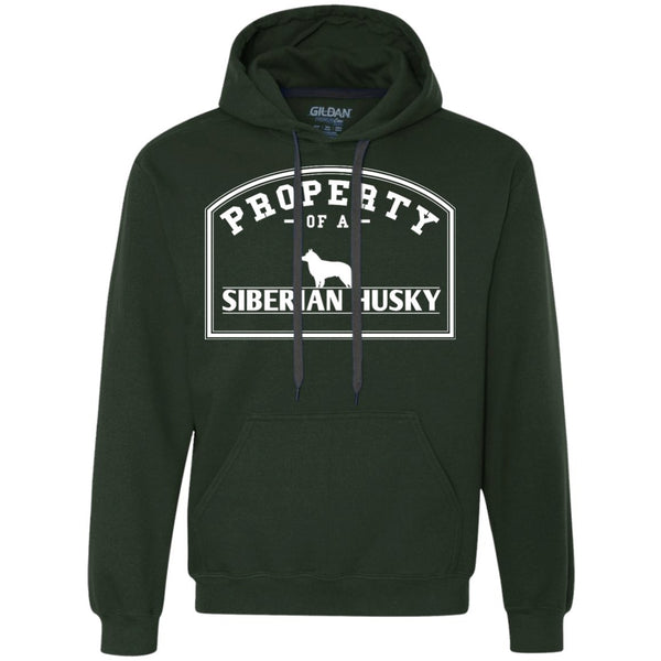 Siberian Husky - Property Of A Siberian Husky - Heavyweight Pullover Fleece Sweatshirt