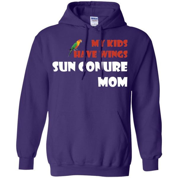 Sun Conures- My Kids Have Wings, Sun Conure Mom  Pullover Hoodie 8 oz