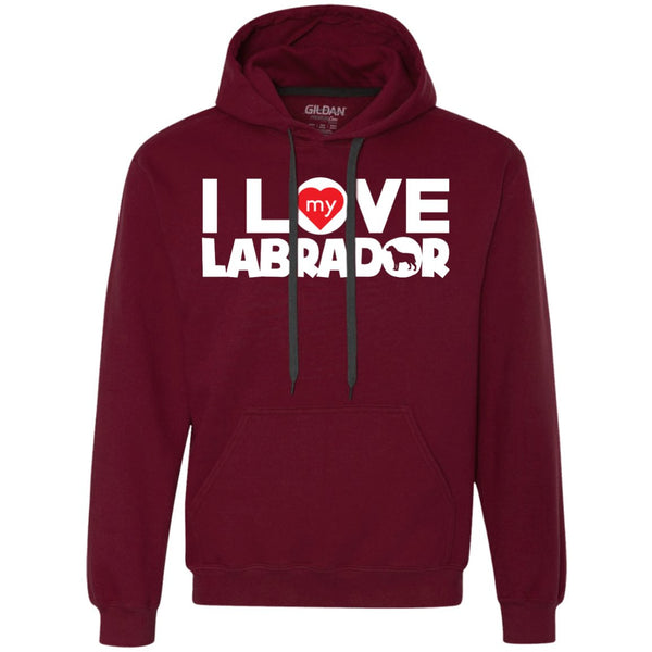 I Love My Labrador - Heavyweight Pullover Fleece Sweatshirt