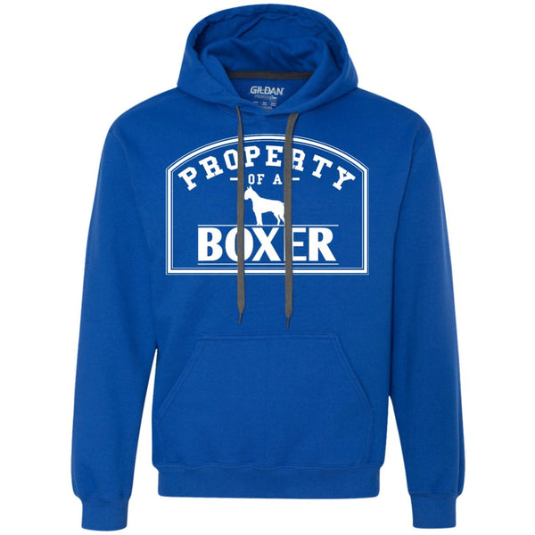 Boxer - Property Of A Boxer - Heavyweight Pullover Fleece Sweatshirt