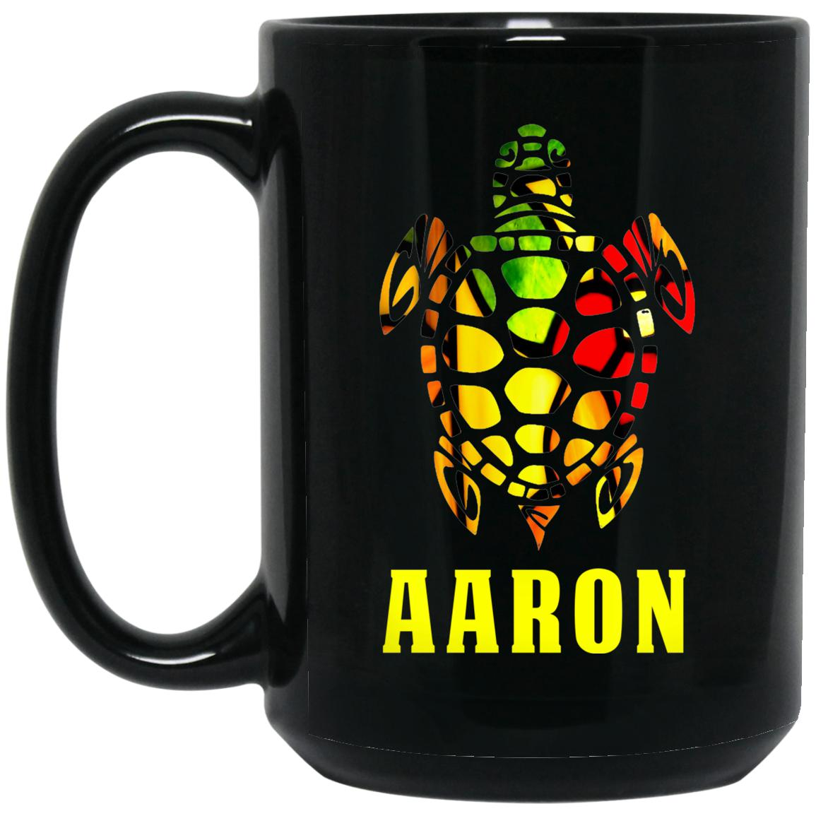 Stained Glass Aaron Custom Aaron Coffee Mug