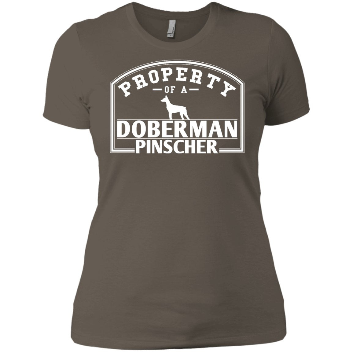 Doberman - Property Of A Doberman - Next Level Ladies' Boyfriend Tee
