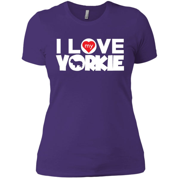 I Love My Yorkshire Terrier - Next Level Ladies' Boyfriend Tee