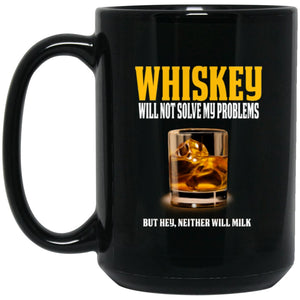 Funny Whiskey Lover Mug - Great Whiskey Gift Large Black Mug