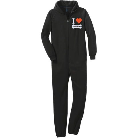 Doberman - I LOVE MY DOBERMAN (BONE DESIGN) - Adult Fleece Onesie (Embroidered)