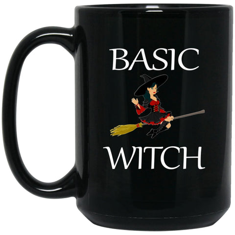 Funny Basic Witch Mug Witch Large Black Mug