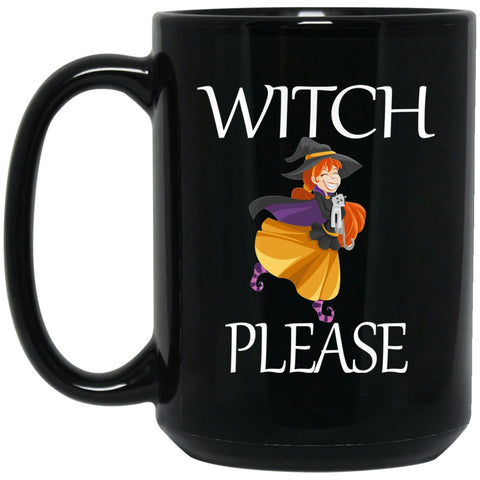 Funny Witch For Women Witch Please Large Black Mug