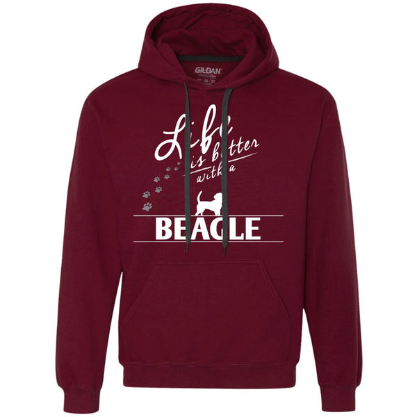 Beagle - Life Is Better With A Beagle Paw - Heavyweight Pullover Fleece Sweatshirt