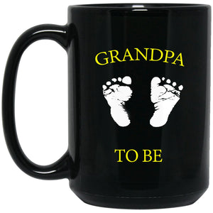 Grandpa To Be Pregnancy Announcement Gift Large Black Mug