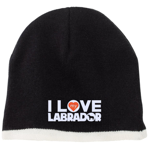 I Love My Labrador  - Beanie (Embroidered)