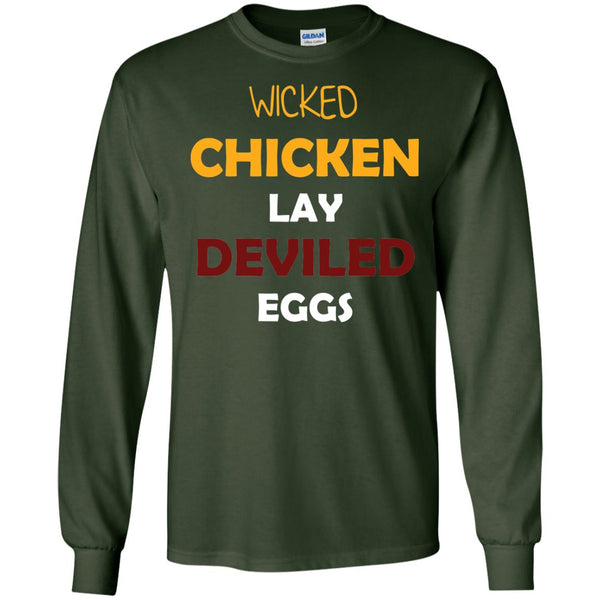Funny Chicken Gift Shirt - Wicked Chickens  LS Ultra Cotton Tshirt