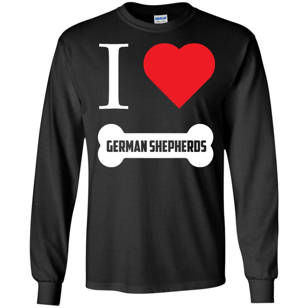 German Shepherd - I LOVE MY German Shepherd (BONE DESIGN) - LS Ultra Cotton Tshirt