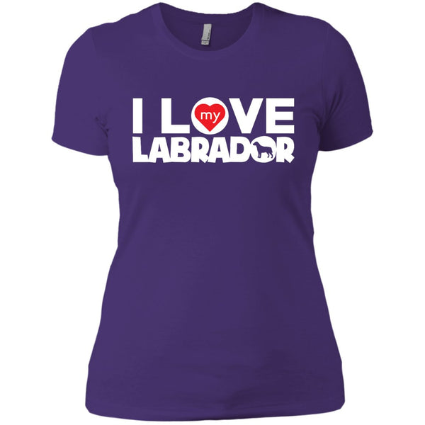 I Love My Labrador - Next Level Ladies' Boyfriend Tee