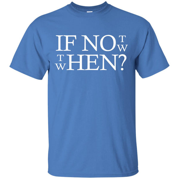 Cool Motivational Shirt If Not Now Then When T-Shirt