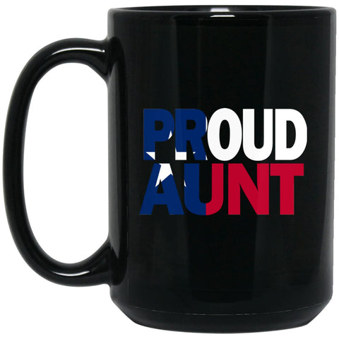 Cool Aunt Mug and Texas Mug Aunt T Mug Texas Flag Large Black Mug