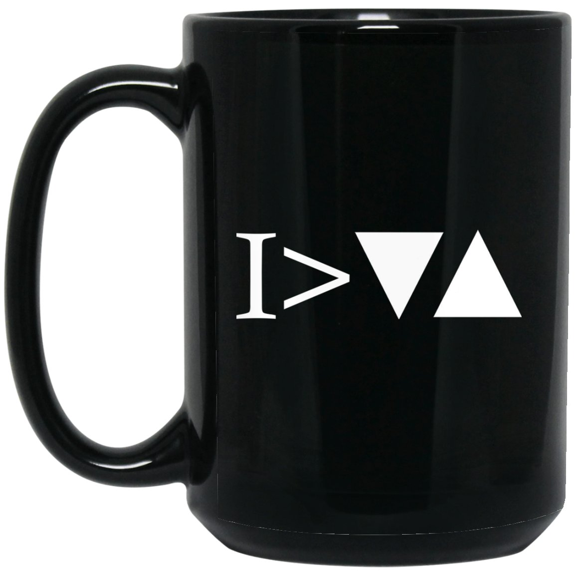 I'm Greater Than My Ups and Downs Cool Motivational Coffee Mug Large Black Mug