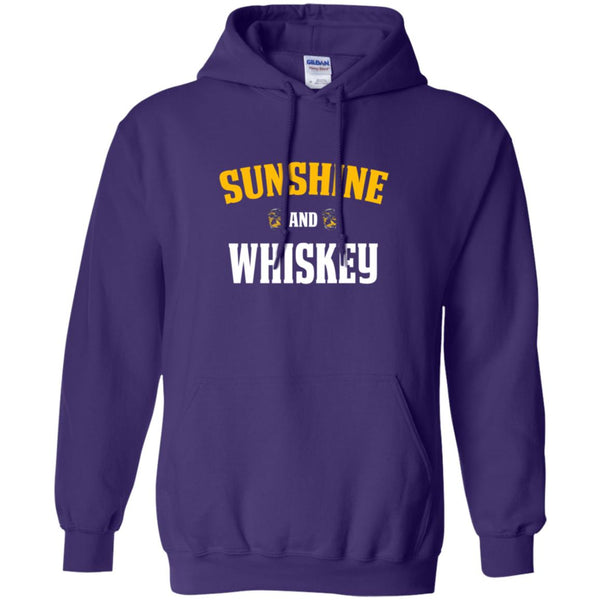 Funny Whiskey Lover Gift Sunshine and Whiskey Hoodie