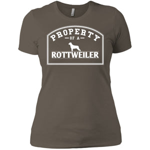 Rottweiler - Property Of A Rottweiler - Next Level Ladies' Boyfriend Tee