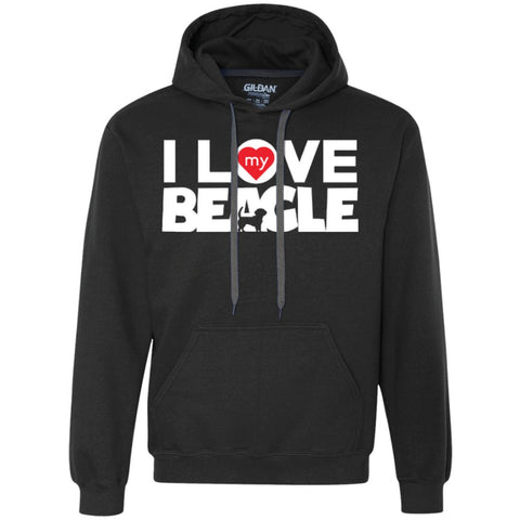 I Love My Beagle - Heavyweight Pullover Fleece Sweatshirt
