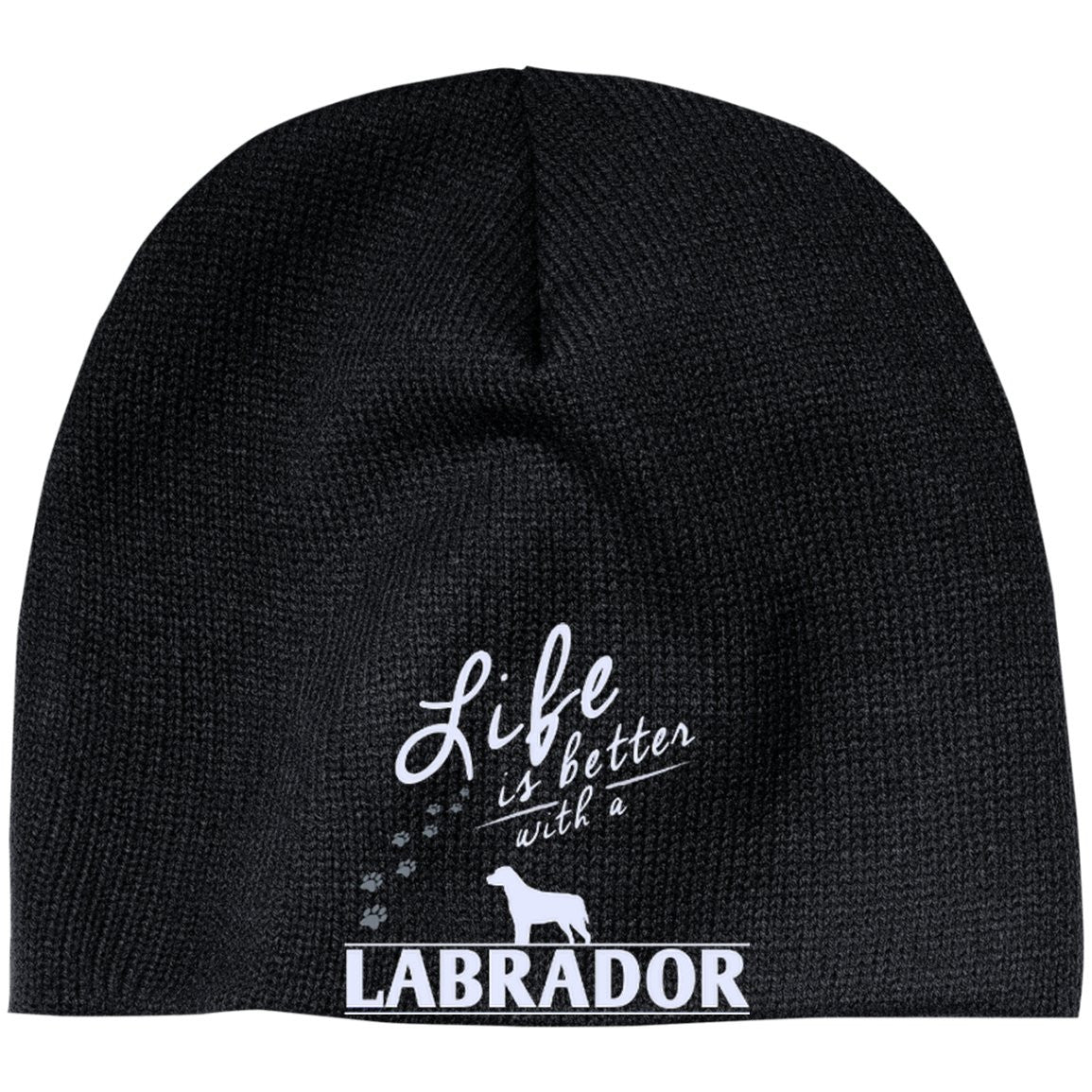 Labrador - Life Is Better With A Labrador Paws - Beanie (Embroidered)