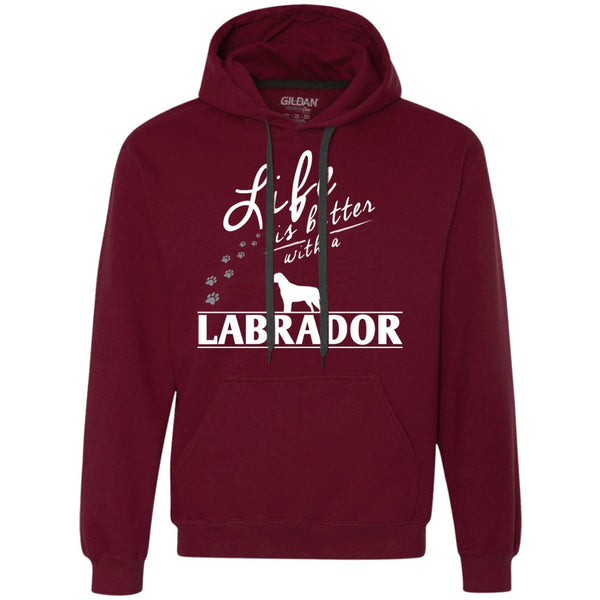 Labrador - Life Is Better With A Labrador Paws - Heavyweight Pullover Fleece Sweatshirt