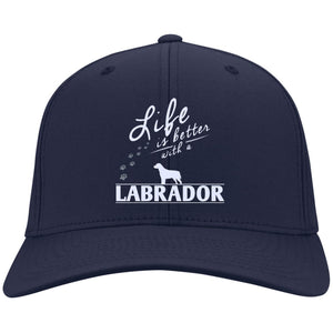 Labrador - Life Is Better With A Labrador Paws - Dry Zone Nylon Cap (Embroidered)