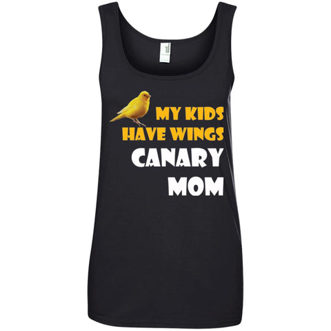 My Kids Have Wings - Canary Mom Shirt Ladies Tank Top