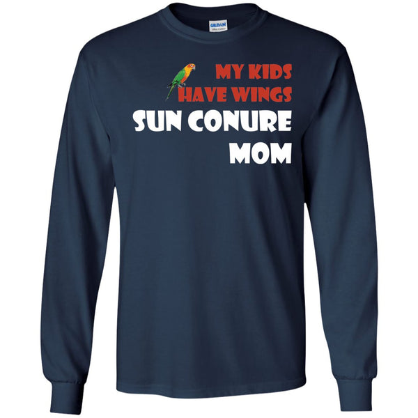Sun Conures- My Kids Have Wings, Sun Conure Mom  LS Ultra Cotton Tshirt