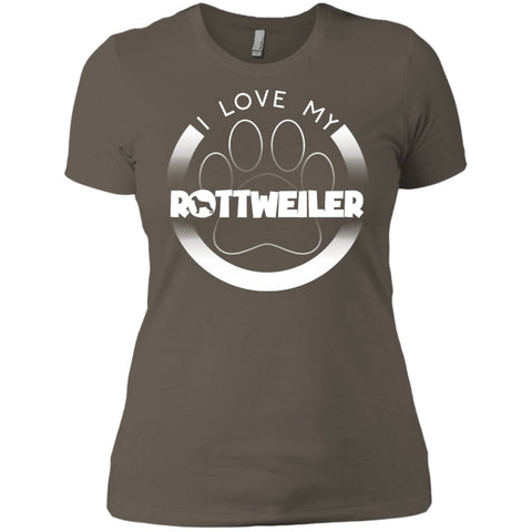 I LOVE MY ROTTWEILER (Paw Design) - Front Design -  Next Level Ladies' Boyfriend Tee