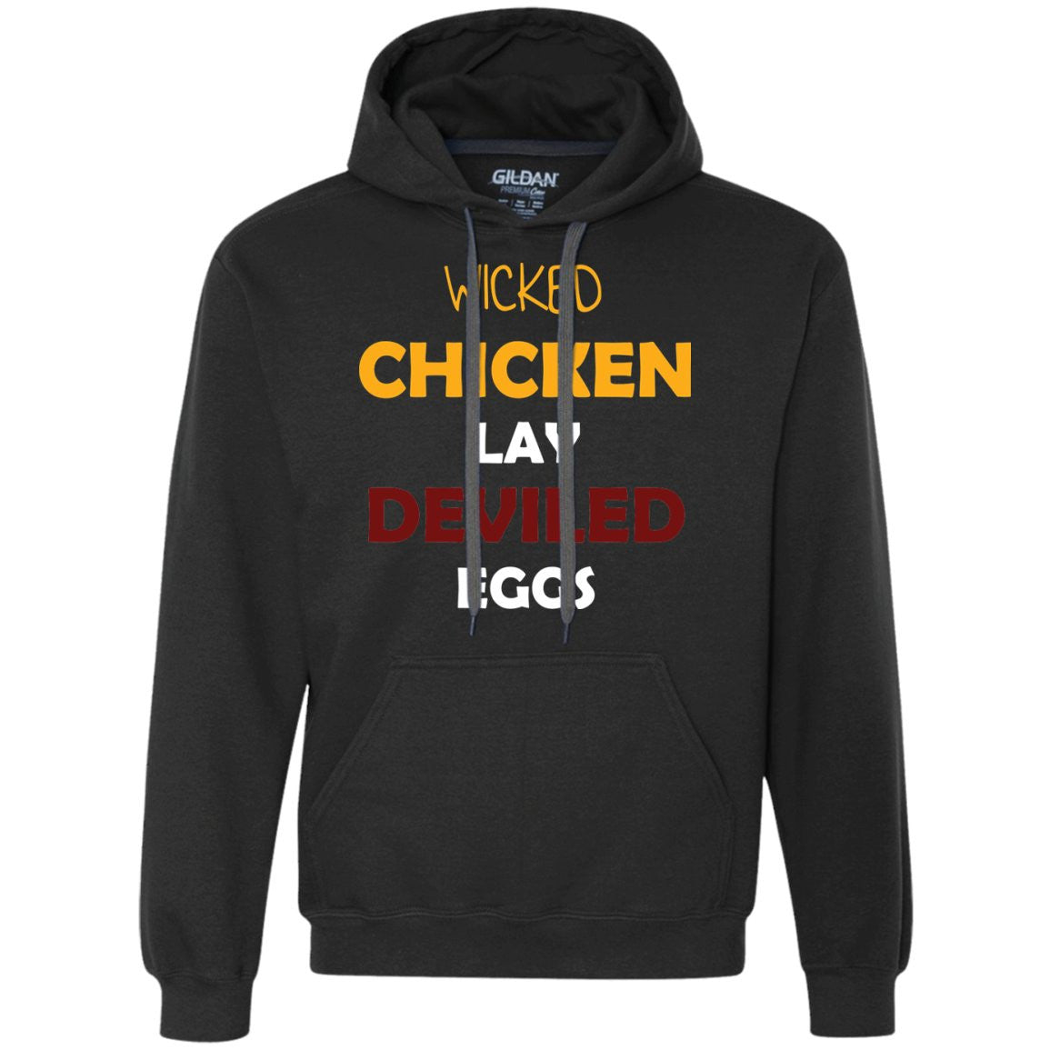 Funny Chicken Gift Shirt - Wicked Chickens  Heavyweight Pullover Fleece Sweatshirt