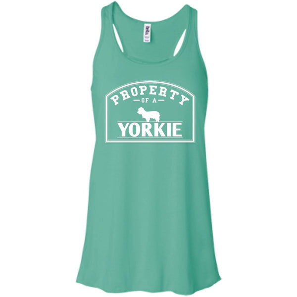 Yorkshire Terrier - Property Of A Yorkshire Terrier - Bella+Canvas Flowy Racerback Tank