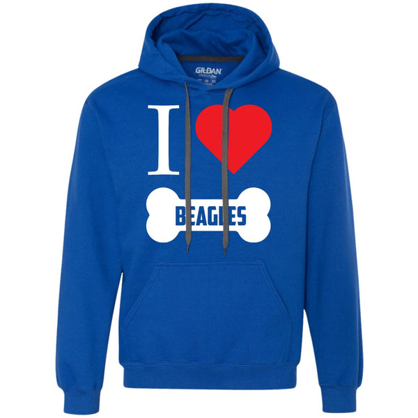 Beagle - I LOVE MY BEAGLE (BONE DESIGN) - Heavyweight Pullover Fleece Sweatshirt