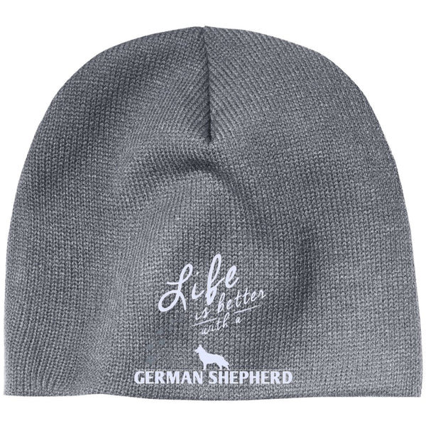 German Shepherd - Life Is Better With A German Shepherd Paws - Beanie (Embroidered)