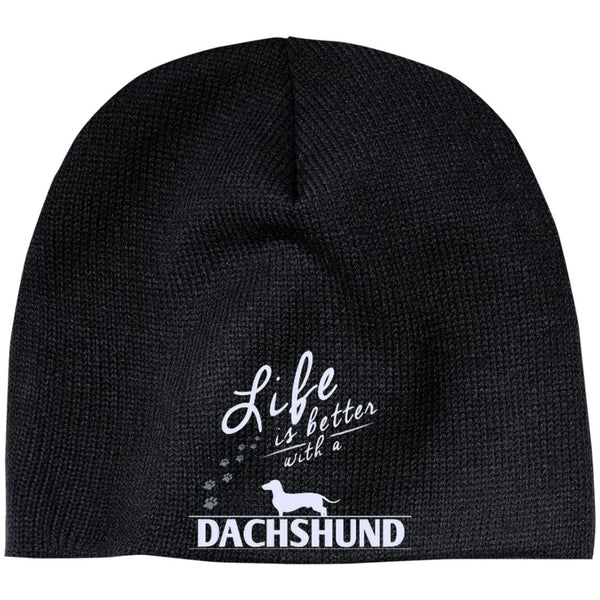 Dachshund - Life Is Better With A Dachshund Paws - Beanie (Embroidered)