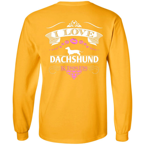 I LOVE DACHSHUND KISSES - BACK DESIGN - LS Ultra Cotton Tshirt