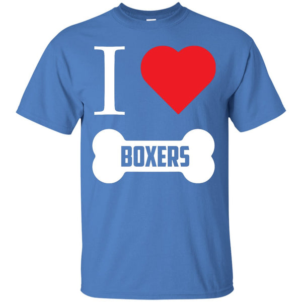 Boxer - I LOVE MY BOXER (BONE DESIGN) -  Custom Ultra Cotton T-Shirt