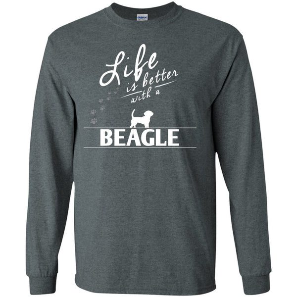 Beagle - Life Is Better With A Beagle Paw - LS Ultra Cotton Tshirt