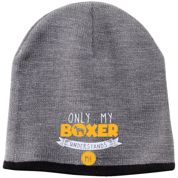 Boxer - Only My Boxer Understands Me - Beanie (Embroidered)
