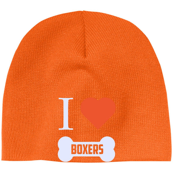 Boxer - I LOVE MY BOXER (BONE DESIGN) - Beanie (Embroidered)