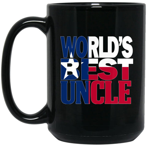 Cool Worlds Best Uncle Mug and Texas Mug Uncle Mug Texas Flag Mug Large Black Mug