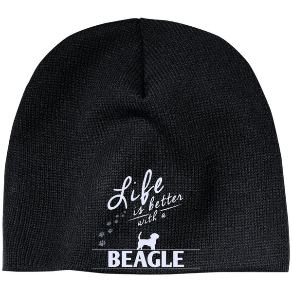 Beagle - Life Is Better With A Beagle Paws - Beanie (Embroidered)