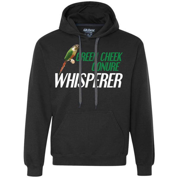 Green Cheek Conure Whisperer - Funny Shirt  Heavyweight Pullover Fleece Sweatshirt