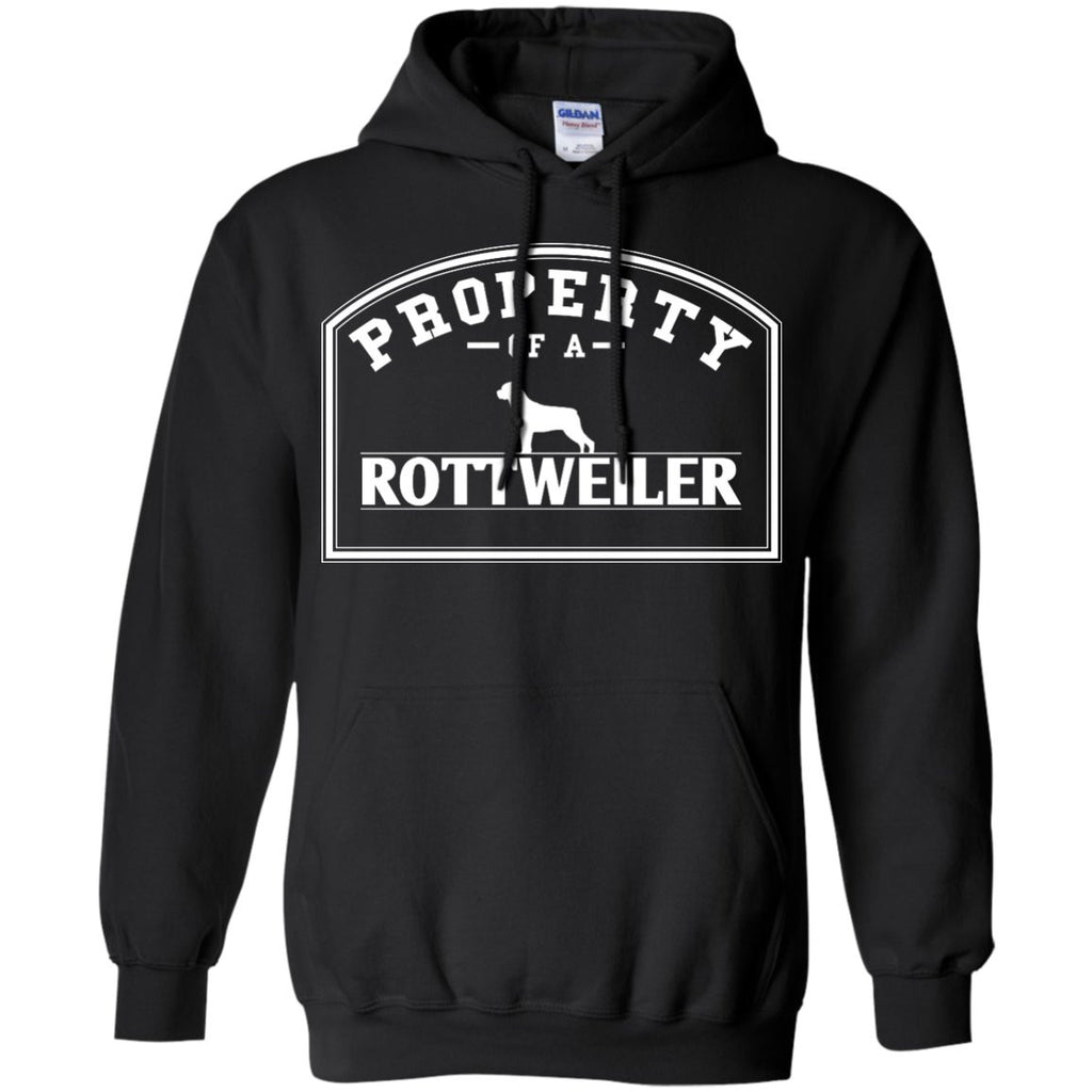 Rottweiler - Property Of A Rottweiler - Pullover Hoodie 8 oz
