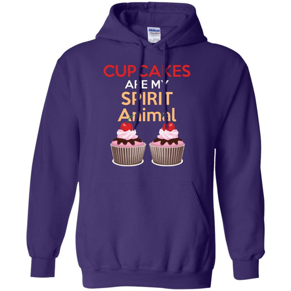 Funny Baking Gift - Cupcakes Are My Spirit Animal Shirt - Great Bakers Gift Hoodie
