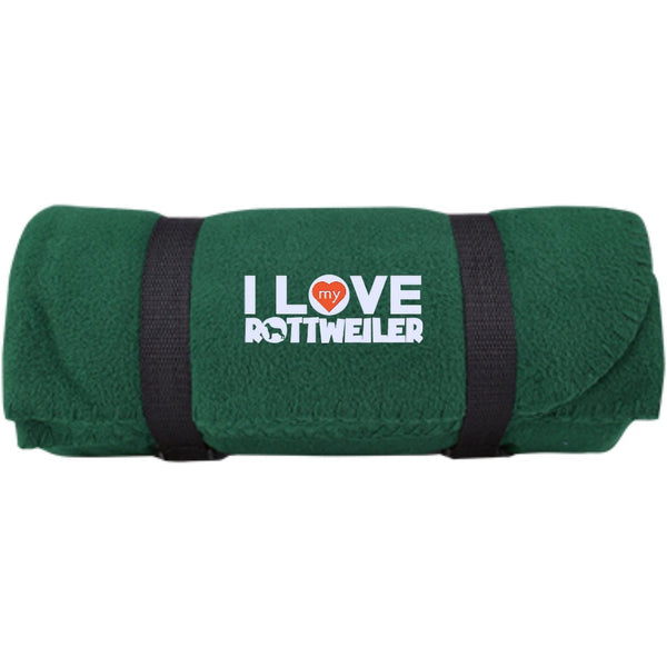 I Love My Rottweiler - Fleece Blanket (Embroidered)
