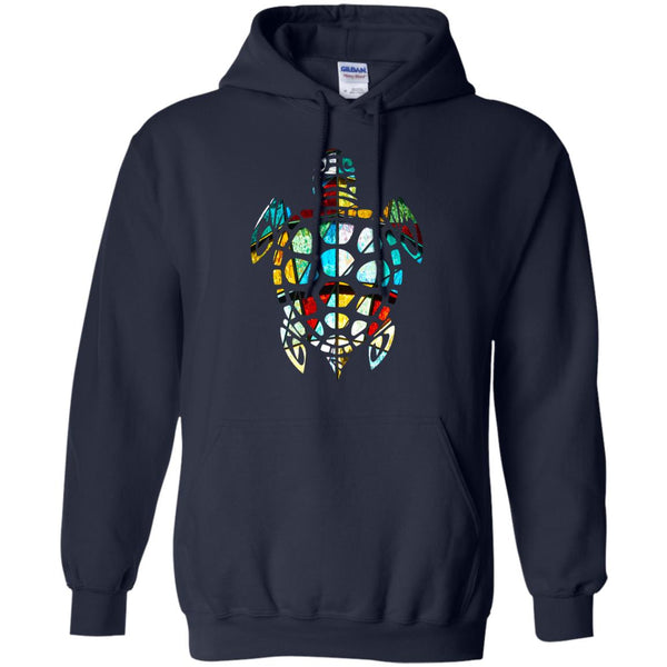 Cool Sea Turtle Stained Glass Hoodie