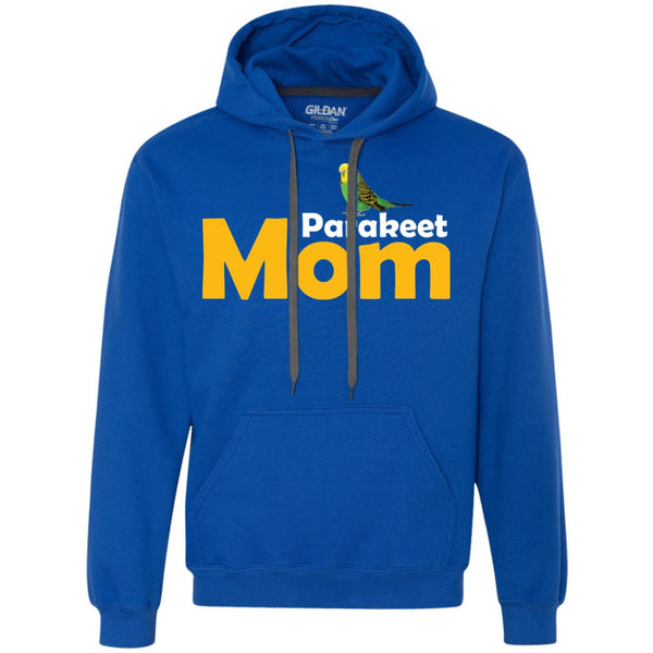 Parakeet mom  Heavyweight Pullover Fleece Sweatshirt